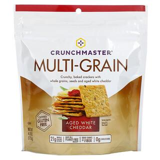 Crunchmaster, Multi-Grain Crackers, Aged White Cheddar, 4 oz (113 g)