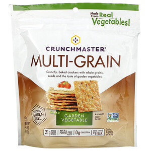 Crunchmaster, Multi-Grain Crackers, Garden Vegetable, 4 oz (113 g)'