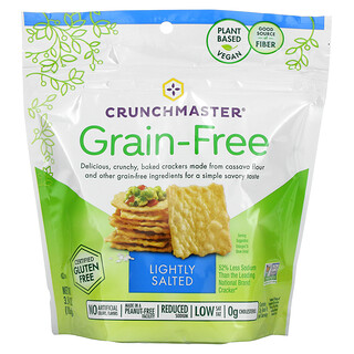 Crunchmaster, Grain Free Crackers, Lightly Salted, 3.54 oz (100 g)
