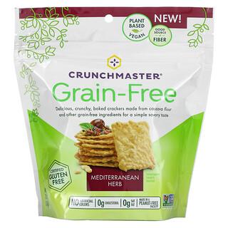 Crunchmaster, Grain Free Crackers, Mediterranean Herb, 3.54 oz (100 g)