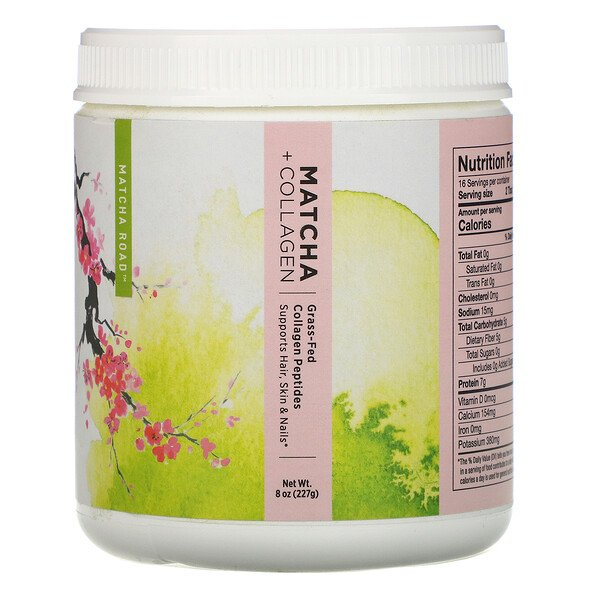 Matcha Road, Matcha + Collagen, Grass-Fed Collagen Peptides, 7.9 oz (224 g) (Discontinued Item)