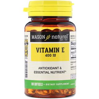Mason Natural, Vitamin E, 400 IU, 100 Softgels
