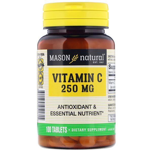 Vitamin C, 250 mg, 100 Tablets