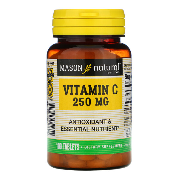 Vitamin C, 250 mg, 100 Tablets