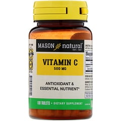 Mason Natural, Vitamin C, 500 mg, 100 Tablets