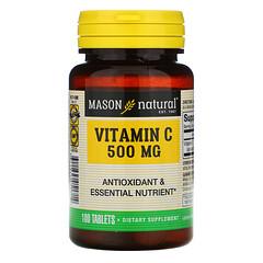Mason Natural, 維生素 C,500 毫克,100 片