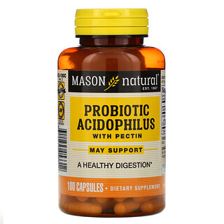 Mason Natural, Probiotic Acidophilus with Pectin, 100 Capsules