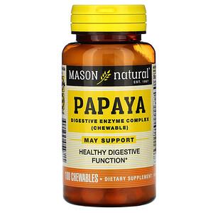 Масон Натуралс, Papaya, Digestive Enzyme Complex, 100 Chewables отзывы