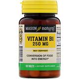 Отзывы о Mason Natural, Витамин B-1, 250 мг, 100 таблеток