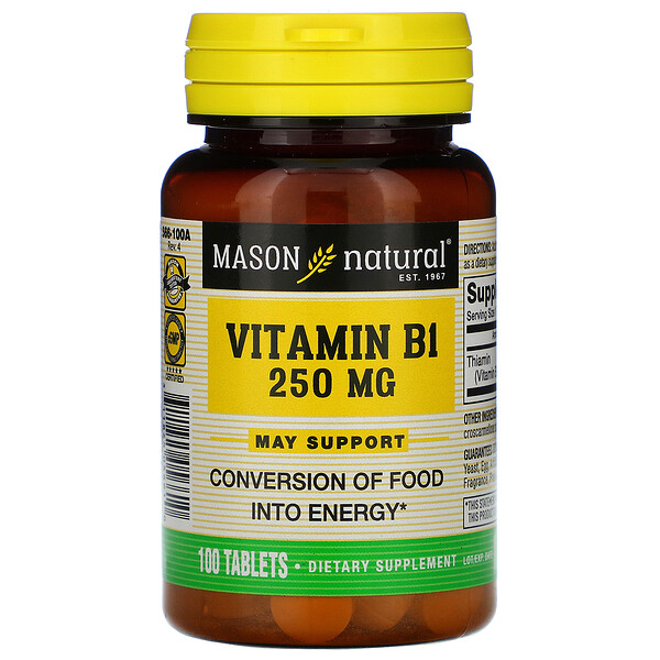 Vitamin B-1, 250 mg, 100 Tablets