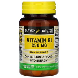 Масон Натуралс, Vitamin B-1, 250 mg, 100 Tablets отзывы покупателей