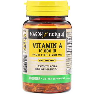 Mason Natural, Vitamin A, 10,000 IU, 100 Softgels