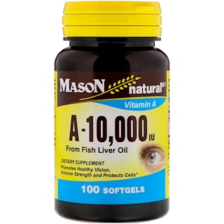Mason Natural, A 10,000 IU, 100 Softgels