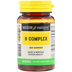 Mason Natural, B Complex, 100 Softgels