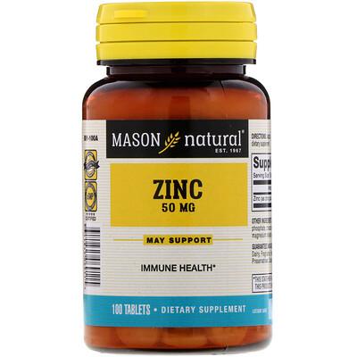 Купить Mason Natural Цинк, 50 мг, 100 таблеток