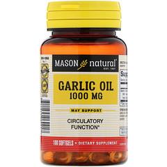 Mason Natural, Garlic Oil, 1000 mg, 100 Softgels