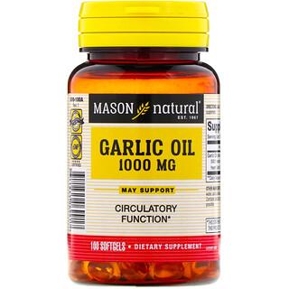 Mason Natural, 蒜油,1000毫克,100粒軟膠囊