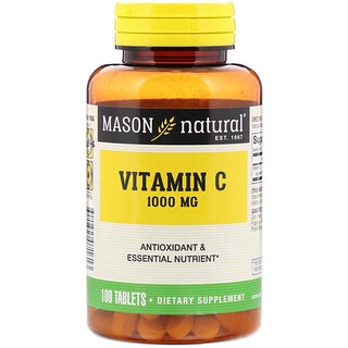 Mason Natural, Vitamin C, 1000 mg, 100 Tablets
