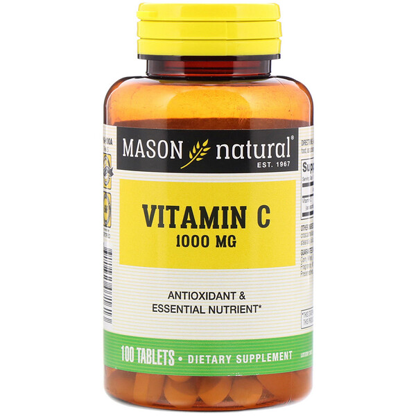 Mason Natural, Vitamin C, 1,000 mg, 100 Tablets