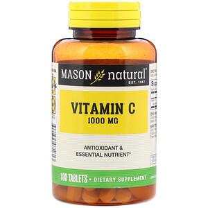 Масон Натуралс, Vitamin C, 1,000 mg, 100 Tablets отзывы покупателей