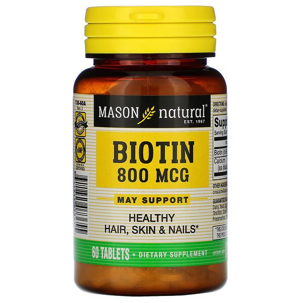 Biotin, 800 mcg, 60 Tablets