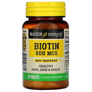 Масон Натуралс, Biotin, 800 mcg, 60 Tablets отзывы