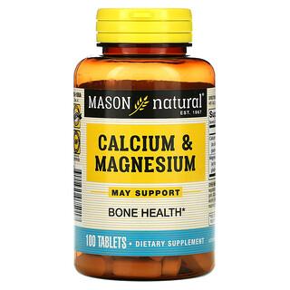 Mason Natural, Calcium & Magnesium, 100 Tablets