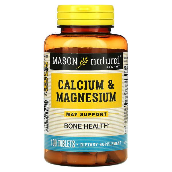 Calcium & Magnesium, 100 Tablets