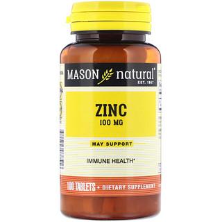 Mason Natural, Zink, 100 mg, 100 Tabletten
