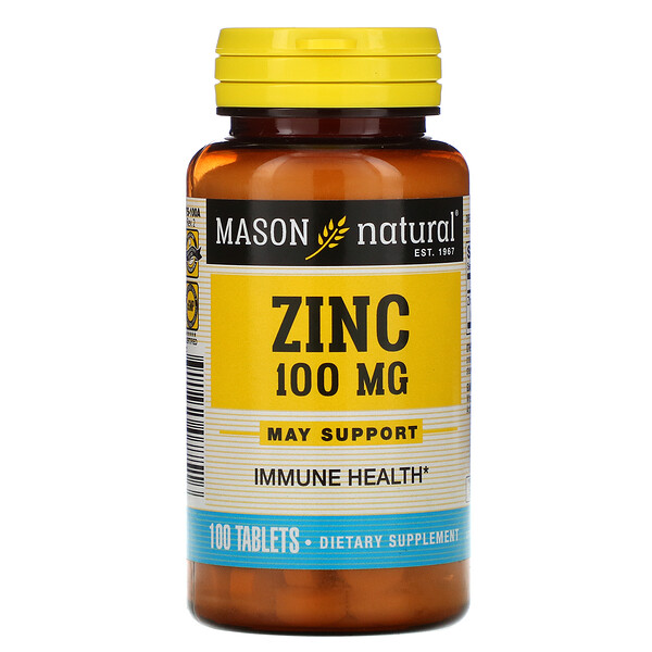 Mason Natural, Zinc, 100 mg, 100 Tablets