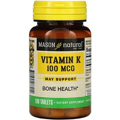 Mason Natural, 維生素K,100微克,100片