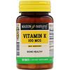 Витамин К, 100 мкг, 100 таблеток