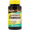 Mason Natural, Activated Vegetable Charcoal, 60 Capsules