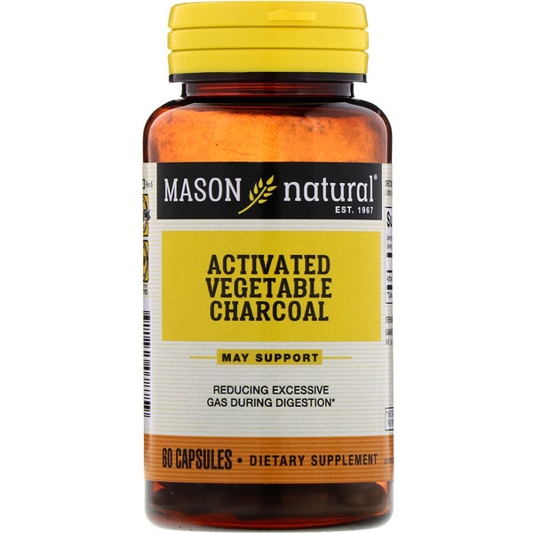 Activated Vegetable Charcoal, 60 Capsules