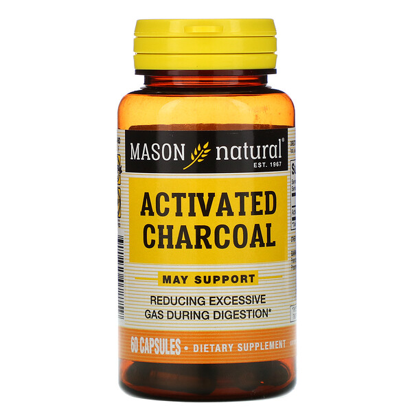 Mason Natural, Activated Charcoal, 60 Capsules