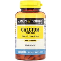 Calcium Plus Vitamin D3, 600 mg, 100 Tablets - фото