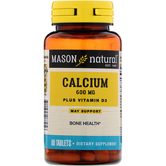 Mason Natural, Calcium Plus Vitamin D3, 600 mg, 60 Tablets