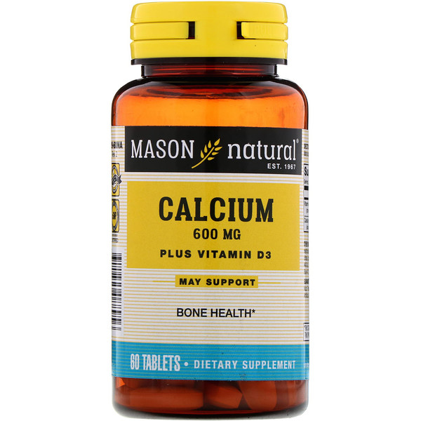 Calcium Plus Vitamin D3, 600 mg, 60 Tablets