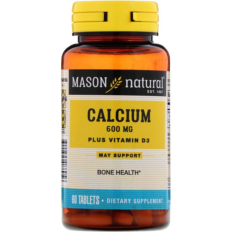Calcium Plus Vitamin D3, 600 mg, 60 Tablets