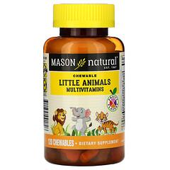 Mason Natural, 動物形狀綜合維生素咀嚼片,水果味,120 粒裝