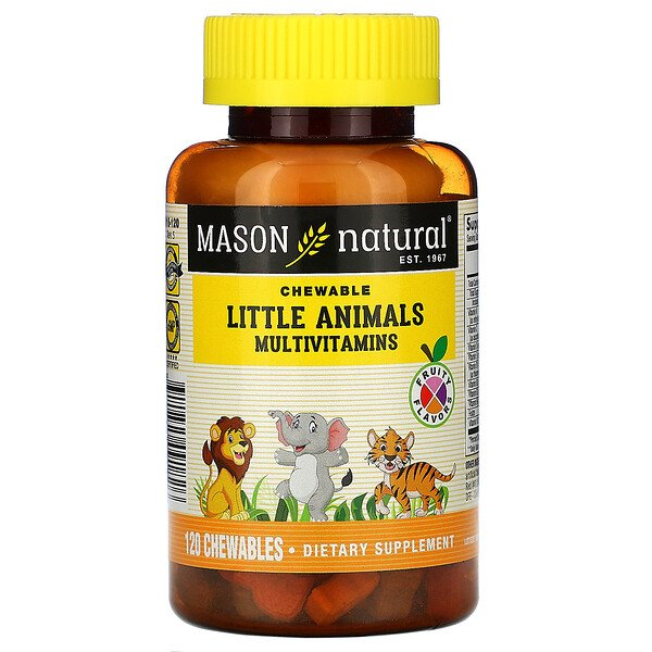 Little Animals Multivitamins, Fruity Flavors, 120 Chewables