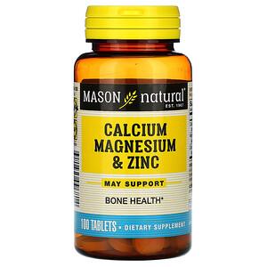 Масон Натуралс, Calcium Magnesium & Zinc, 100 Tablets отзывы