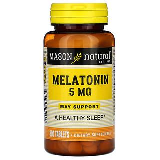 Mason Natural, Melatonin, 5 mg, 300 Tablets