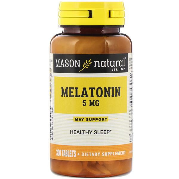 Melatonin, 5 mg, 300 Tablets