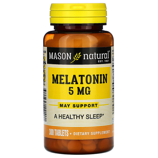 Melatonin, 5 mg, 300 Tablets