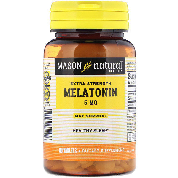 Melatonin, 5 mg , 60 Tablets