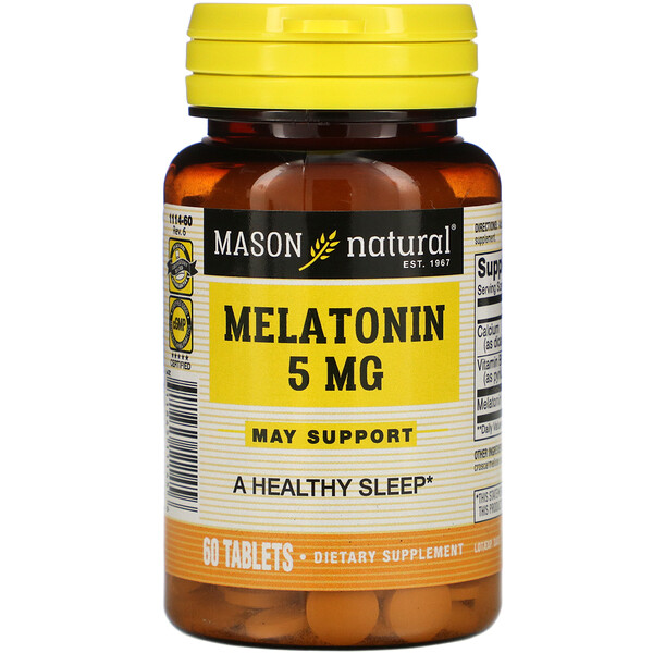 Melatonin, 5 mg, 60 Tablets
