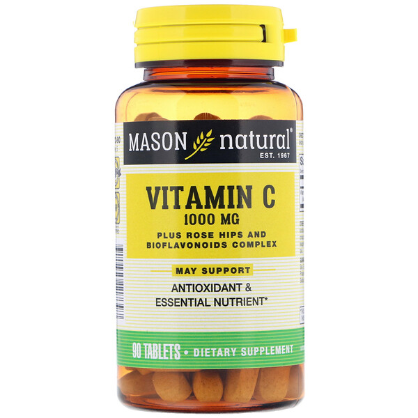 Mason Natural, Vitamina C, 1000 mg, 90 comprimidos