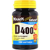 Mason Natural, Vitamin D3, 400 IU, 100 Softgels