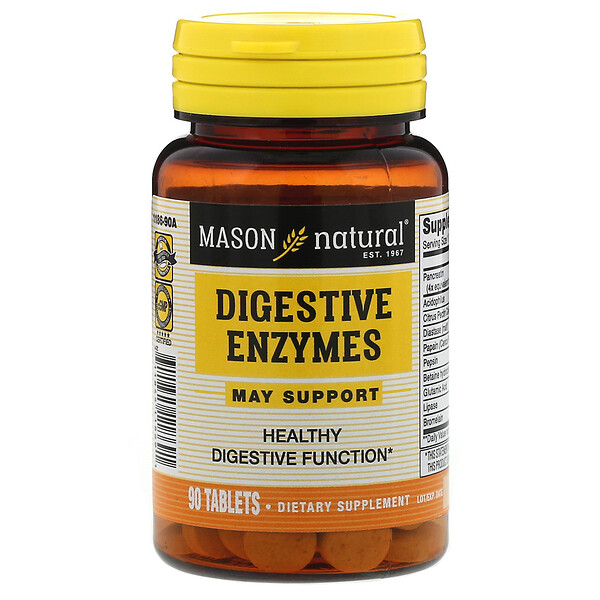 Mason Natural, Digestive Enzymes, 90 Tablets